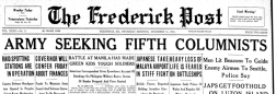 Frederick Post newspaper archives