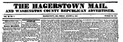 Hagerstown Mail And Washington Repub Advertiser newspaper archives