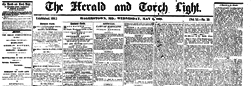Hagerstown Herald And Torch Light newspaper archives