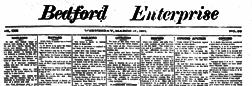 Acton Bedford Enterprise newspaper archives