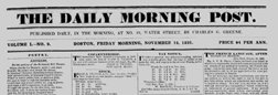 Boston Daily Morning Post newspaper archives