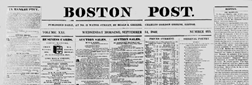 Boston Post newspaper archives