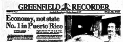 Greenfield Recorder newspaper archives