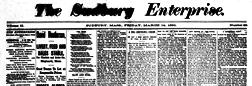 Sudbury Enterprise newspaper archives