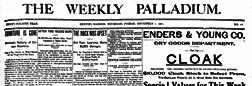 Benton Harbor Weekly Palladium newspaper archives