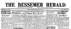Bessemer Herald newspaper archives