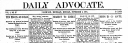 Daily Advocate Ironwood Michigan newspaper archives
