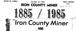 Iron County Miner newspaper archives