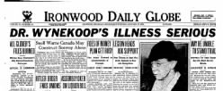 Ironwood Daily Globe newspaper archives
