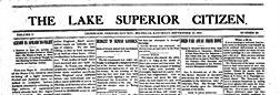 Ironwood Lake Superior Citizen newspaper archives