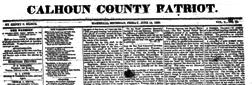 Calhoun County Patriot newspaper archives