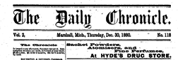 Marshall Daily Chronicle newspaper archives