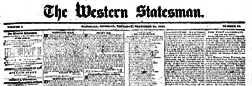 Marshall Western Statesman newspaper archives