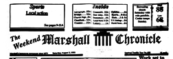 Weekend Marshall Chronicle newspaper archives