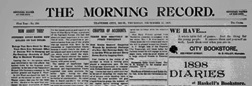 Traverse City Evening Record newspaper archives