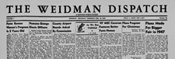 Weidman Dispatch newspaper archives