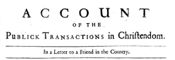 Account Of The Public Transactions In Christendom newspaper archives