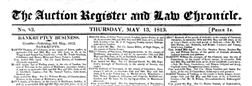 Auction Register And Law Chronicle newspaper archives