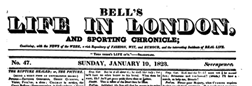 Bells Life In London And Sporting Chronicle newspaper archives