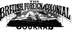 British Foreign And Colonial Journal newspaper archives