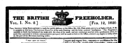 British Freeholder newspaper archives