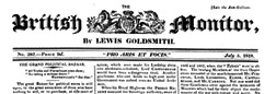 British Monitor newspaper archives
