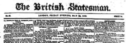 British Statesman newspaper archives