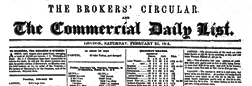 Brokers Circular And Commercial Daily List newspaper archives