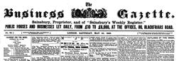 Business Gazette newspaper archives