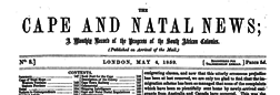 Cape And Natal News newspaper archives