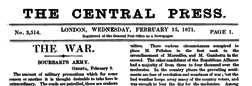 Central Press newspaper archives