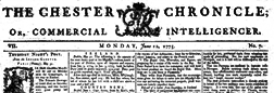 Chester Chronicle Or Commercial Intelligencer newspaper archives