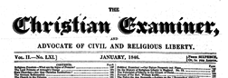 Christian Examiner And Advocate Of Civil Liberty newspaper archives
