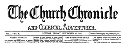 Church Chronicle And Clerical Advertiser newspaper archives