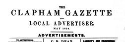 Clapham Gazette newspaper archives