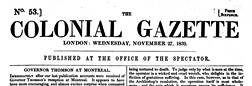 Colonial Gazette newspaper archives