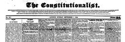 Constitutionalist newspaper archives
