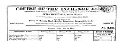 Course Of The Exchange newspaper archives