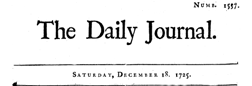 Daily Journal London Middlesex newspaper archives