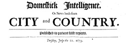 Domestick Intelligence newspaper archives