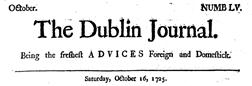 Dublin Journal London Middlesex newspaper archives