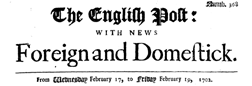English Post newspaper archives