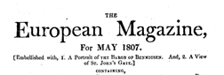 European Magazine newspaper archives