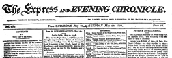 Express And Evening Chronicle newspaper archives