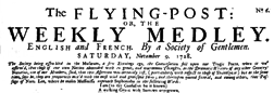 Flying Post Or Weekly Medley newspaper archives