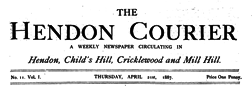 Hendon Courier newspaper archives