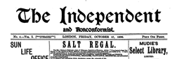 Independent And Nonconformist newspaper archives
