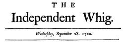 Independent Chronicle Or Freeholders Evening Post newspaper archives