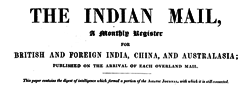Indian Mail newspaper archives