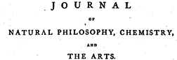 Journal Of Natural Philosophy Chemistry And Arts newspaper archives